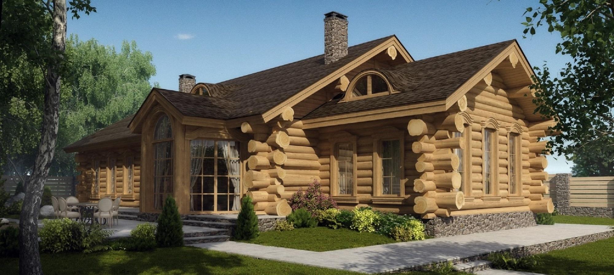 красивые дома из бревна фото и проект спине тимура красуется